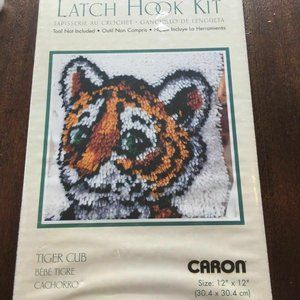 Wonder Art Tiger Cub Latch Hook Kit 12 x 12 Crafts
